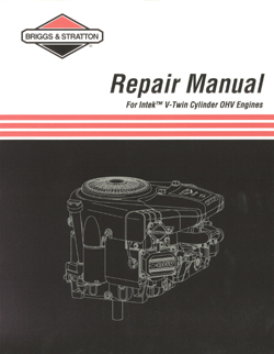 273521 intek v twin cylinder ohv repair manual rh smallengines ca Briggs and Stratton Engine Parts Diagram Briggs and Stratton Model Numbers